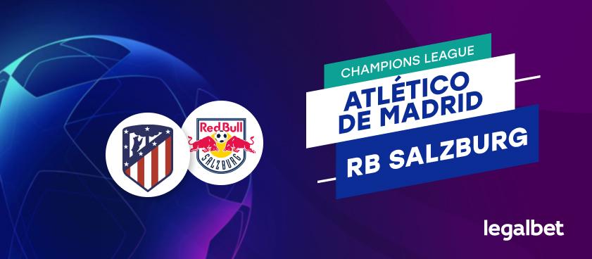 Apuestas y cuotas Atlético de Madrid - RB Salzburgo, Champions League 2020/21