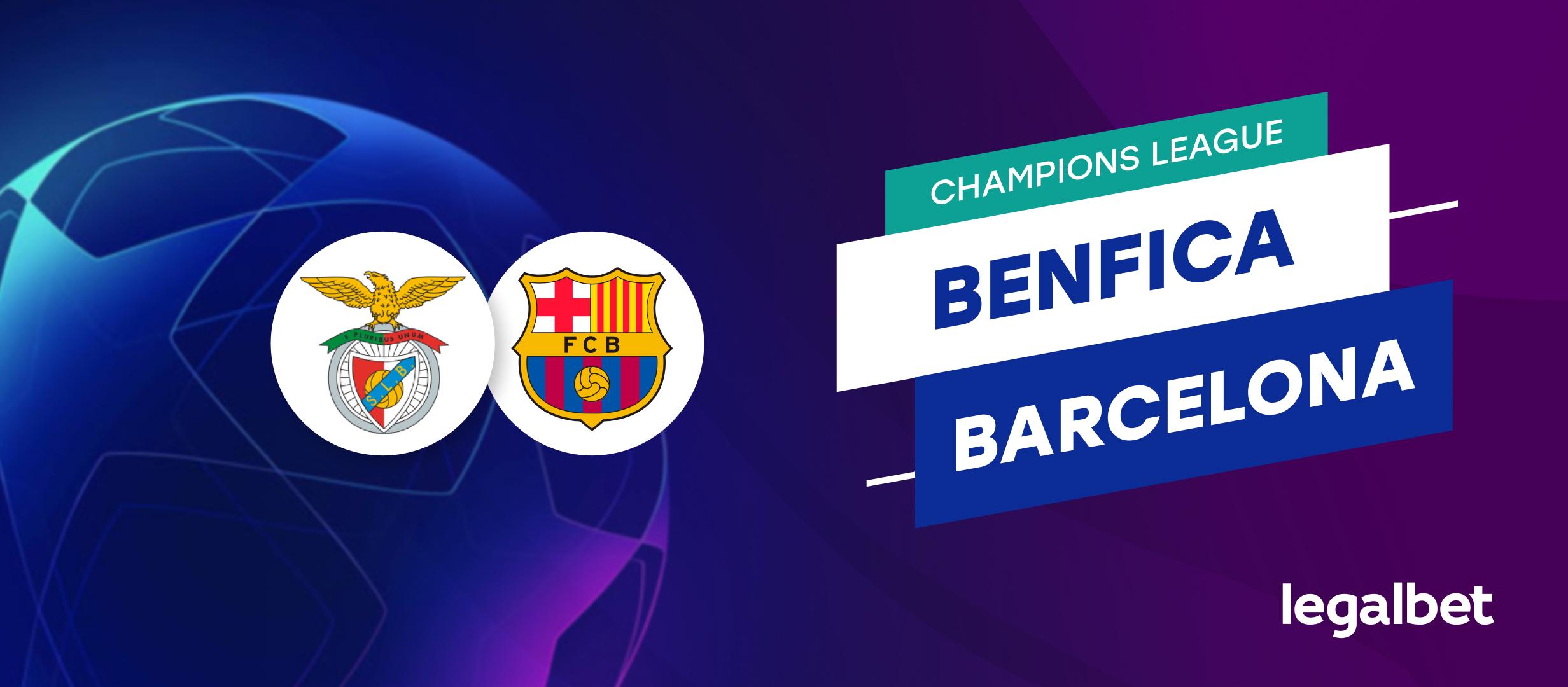 Benfica vs Barcelona – cote la pariuri, ponturi si informatii