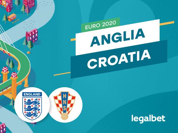 Cristian M: Anglia - Croația, ponturi pariuri EURO 2020. Britanicii vor revanșa pentru semifinala CM.