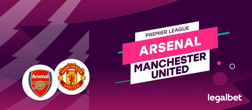 Apuestas y cuotas Arsenal - Manchester United, Premier League 2020/21