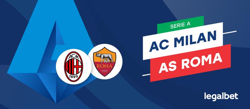 Apuestas y cuotas AC Milan - Roma, Serie A 2020/21