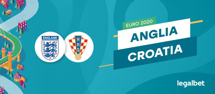 Anglia - Croația, ponturi pariuri EURO 2020. Britanicii vor revanșa pentru semifinala CM