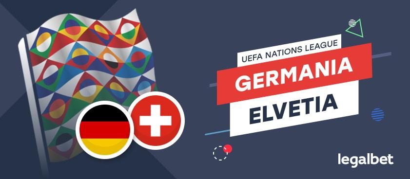Germania-Elvetia: cote, statistici, ponturi pariuri