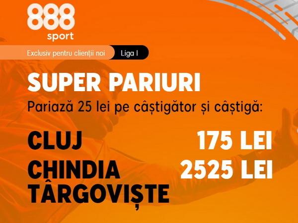 legalbet.ro: 888 Sport vine cu o promoţie de vis. Ai cota 101.00 pentru o victorie a Chindiei!.