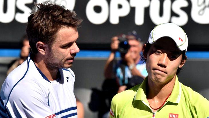 Теннис. US Open. Вавринка С. - Нишикори К.