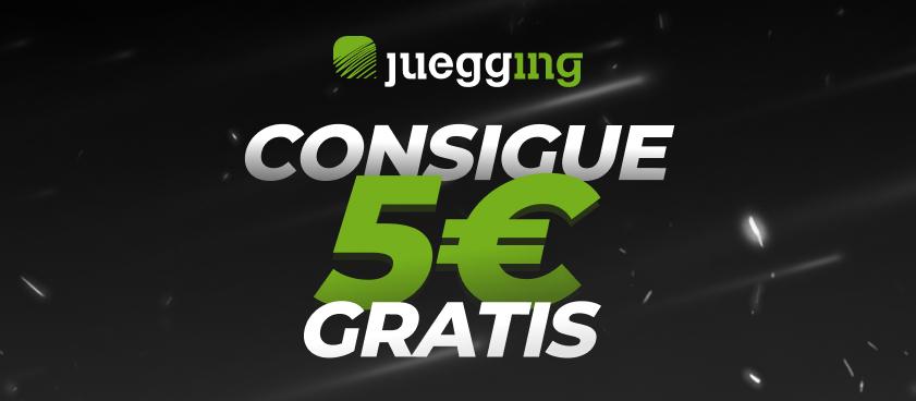 5€ GRATIS por registrarte en Juegging. ¡Promoción exclusiva y válida sólo hasta el 30 de abril!