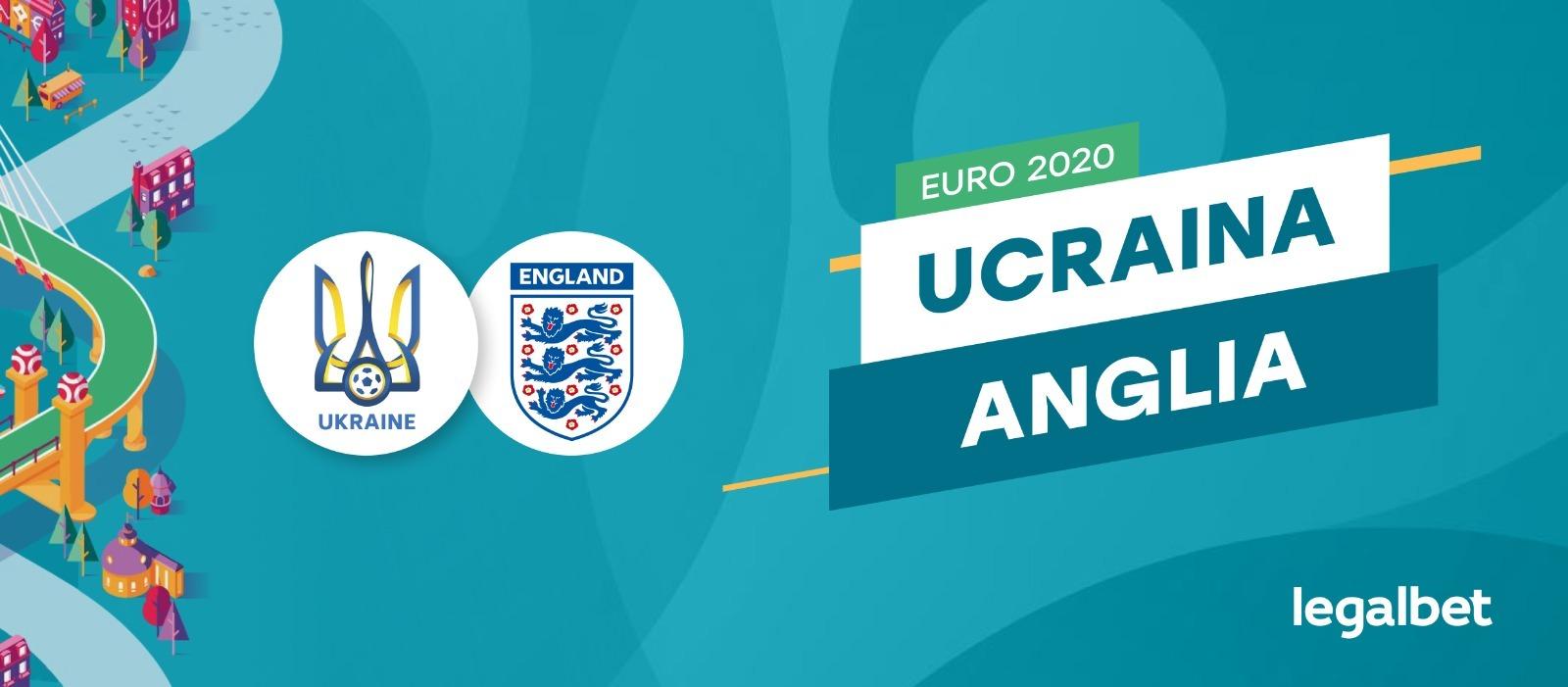 Ucraina - Anglia, în sferturile EURO 2020! Marea surpriză vs marea favorită