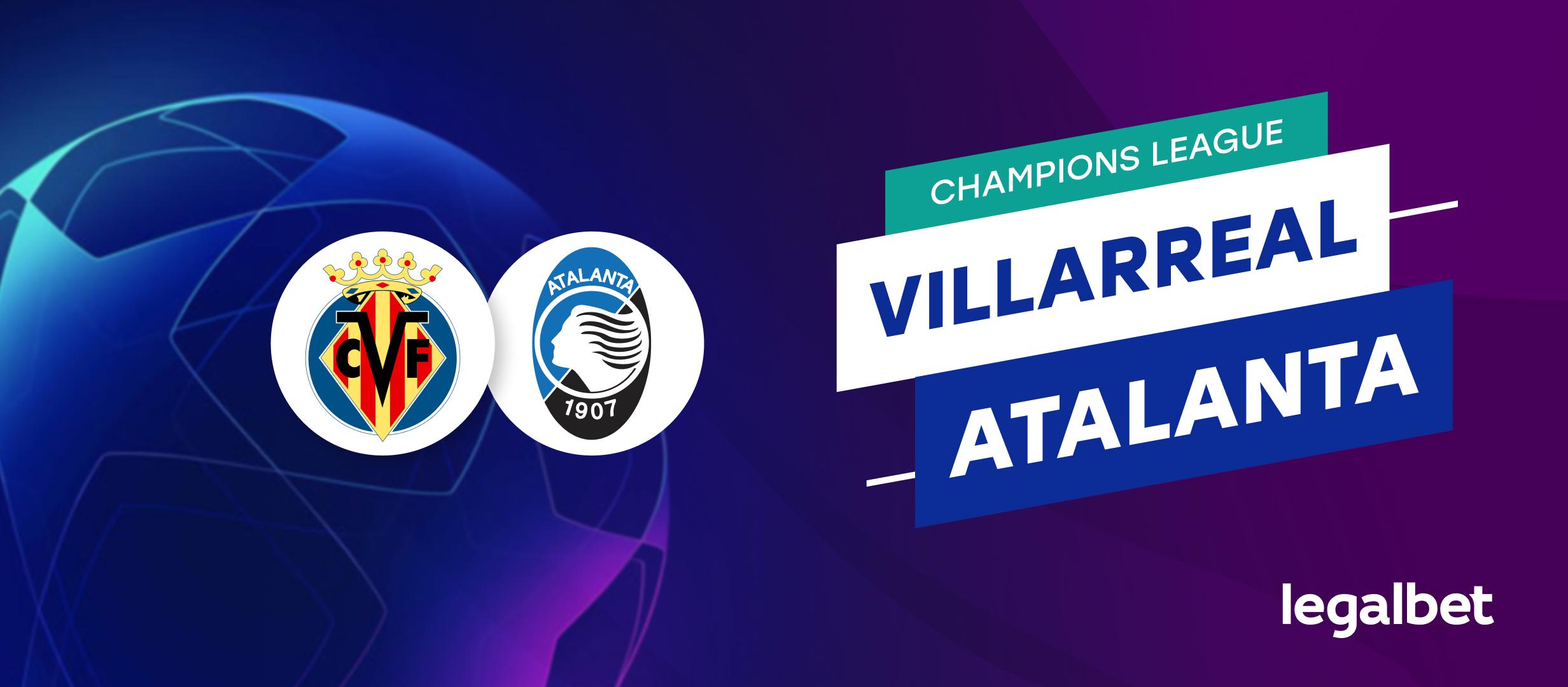 Apuestas y cuotas Villarreal - Atalanta, Champions League 2021/22