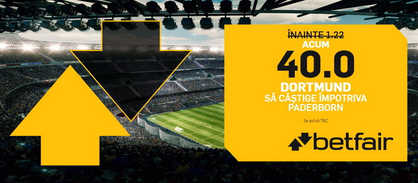 Profita imediat de o cota grozava pentru meciul Paderborn vs Borussia Dortmund