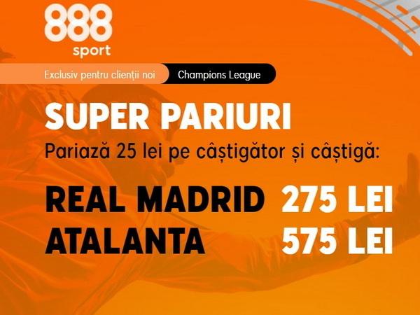 """legalbet.ro: """"La Dea"""" încă mai speră la calificare! Nu rata cotele generoase pentru meciul Real Madrid - Atalanta!."""