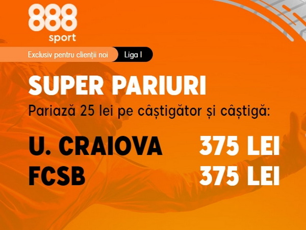 legalbet.ro: Cote mari şi orgolii uriaşe pentru duelul U Craiova - FCSB!.