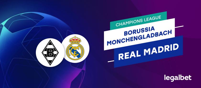Apuestas y cuotas Borussia Mönchengladbach - Real Madrid, Champions League 2020/21
