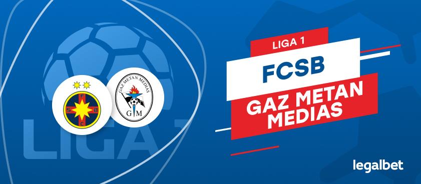 FCSB - Gaz Metan Medias: cote la pariuri si statistici