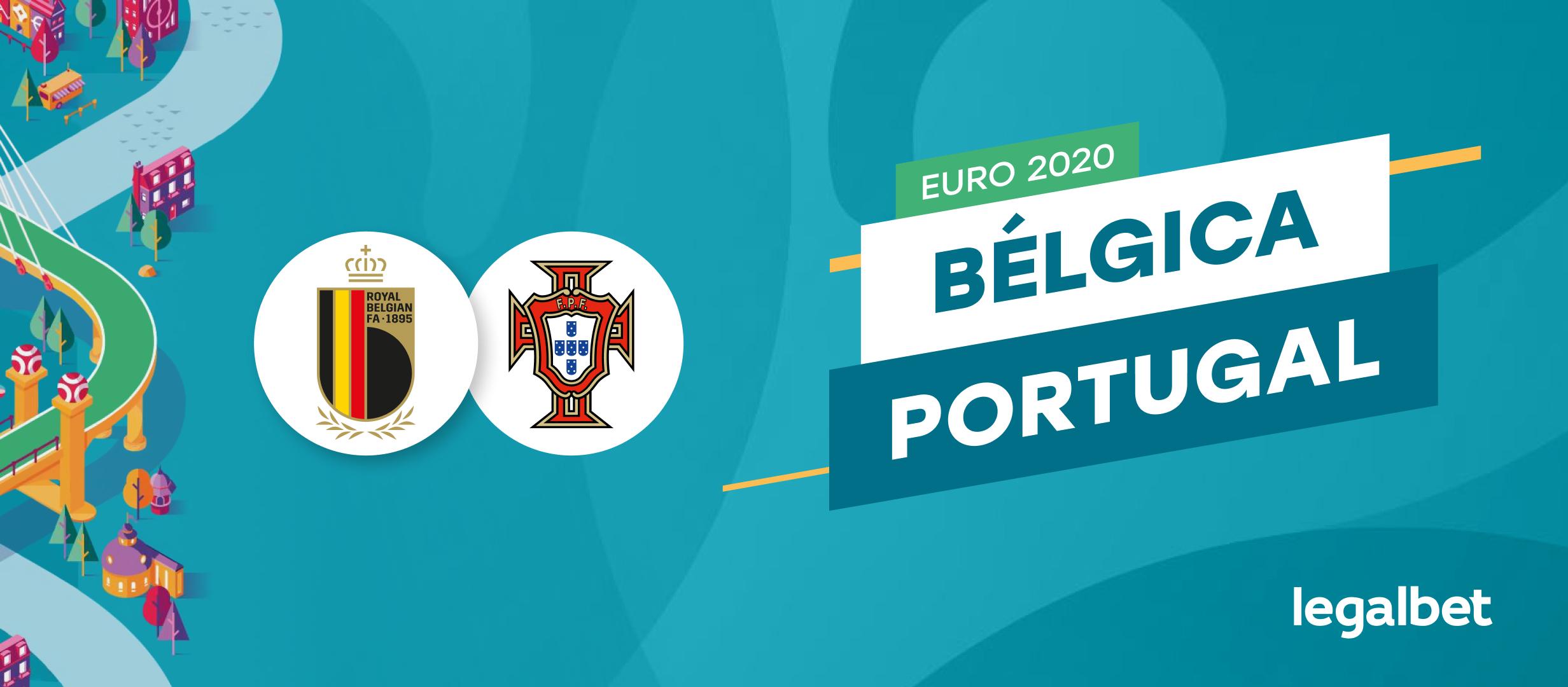 Apuestas y cuotas Bélgica - Portugal, EURO 2020