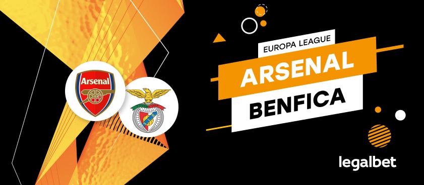 Arsenal Londra - Benfica Lisabona: cote la pariuri şi statistici