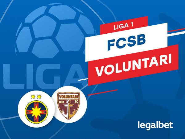 Karbacher: FCSB - FC Voluntari: cote la pariuri şi statistici.