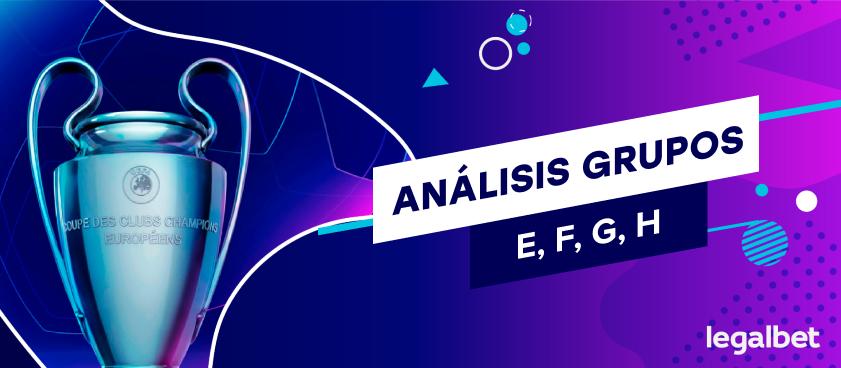 Situación y opciones de los equipos de los grupos E, F, G y H ante las dos últimas jornadas