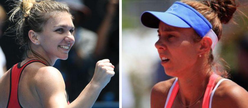 Simona Halep vs Mihaela Buzarnescu, meciul zilei din tenis