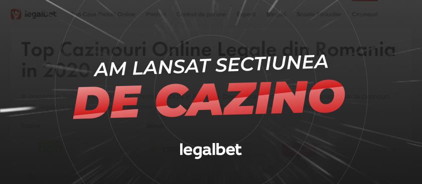 Legalbet lanseaza mult asteptata sectiune de cazino