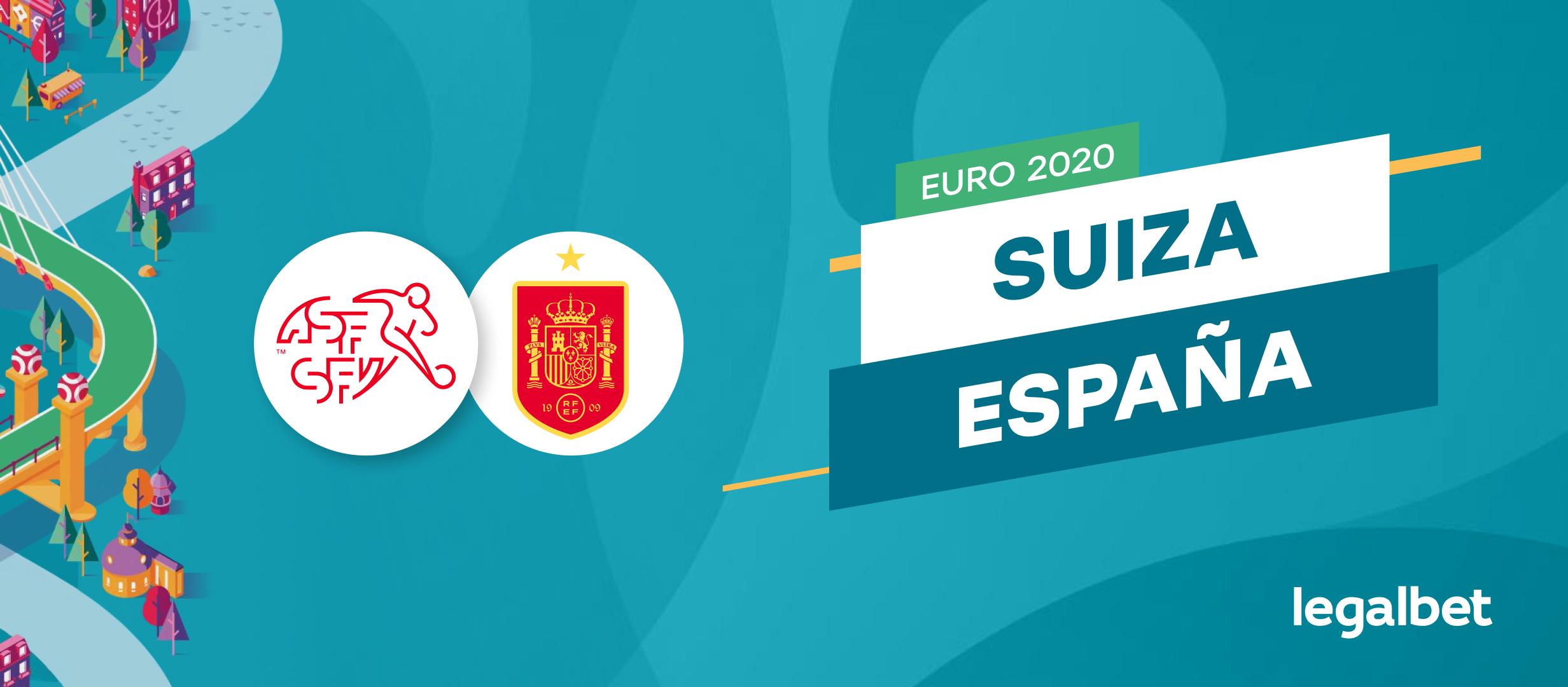 Apuestas y cuotas Suiza - España, EURO 2020