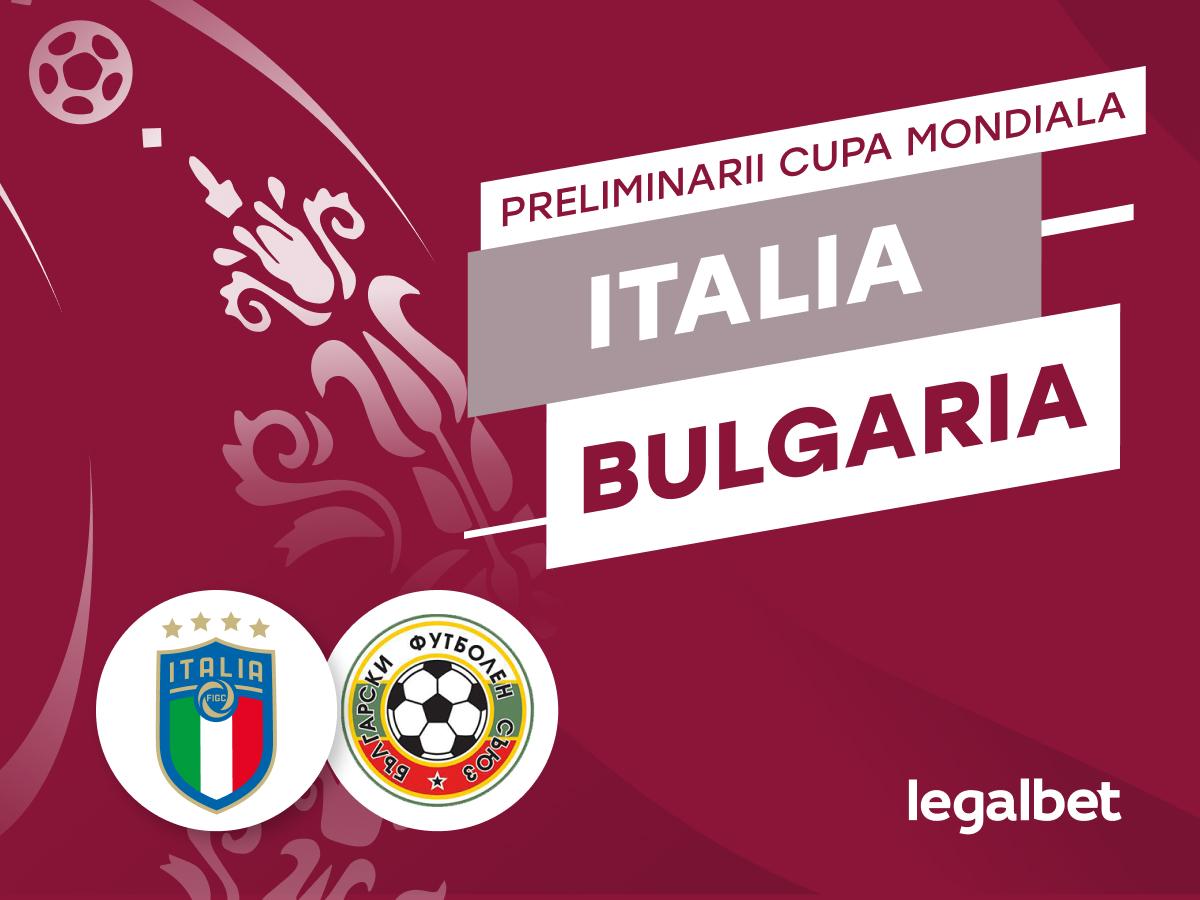 Maraz: Italia - Bulgaria,  cote la pariuri, ponturi şi informaţii.