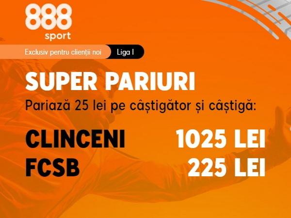 legalbet.ro: Ia-ţi super cotele de la 888 Sport din meciul Academica Clinceni - FCSB.