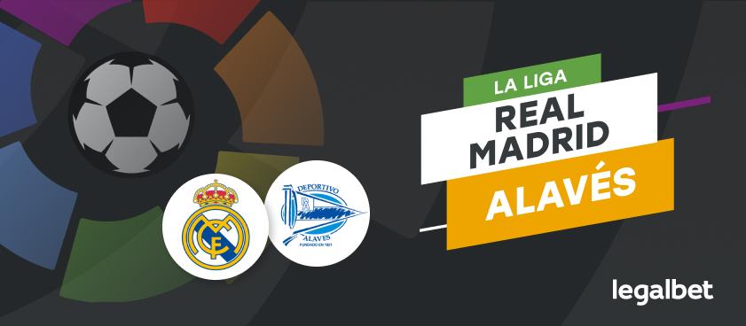 Apuestas y cuotas Real Madrid - Alavés, La Liga 2020/21