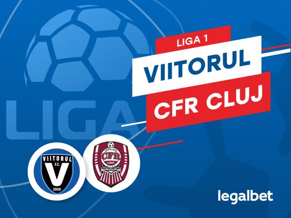 Karbacher: FC Viitorul vs CFR Cluj: cote la pariuri şi statistici.