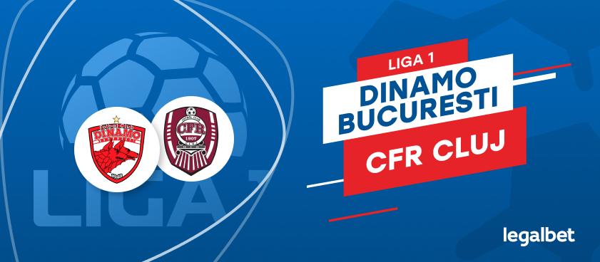 Dinamo Bucureşti - CFR Cluj: cote la pariuri şi statistici