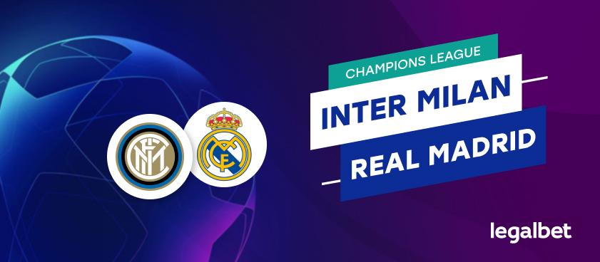 Apuestas y cuotas Inter Milan - Real Madrid, Champions League 2020