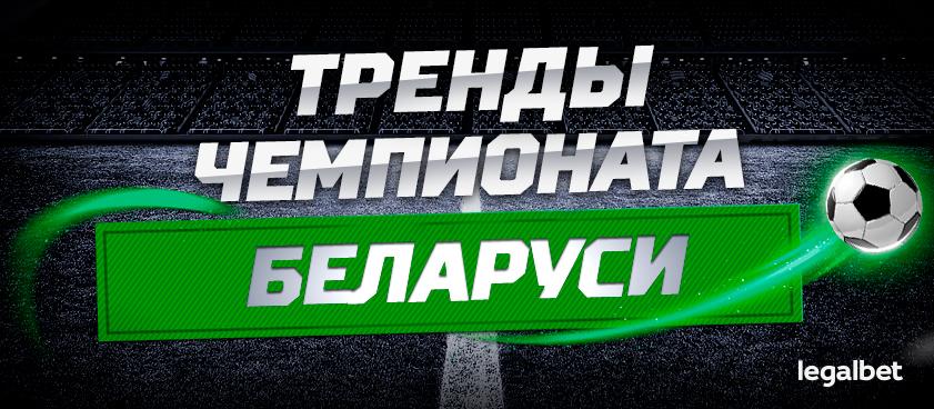 Пять горячих трендов на футбольный чемпионат Беларуси прямо сейчас