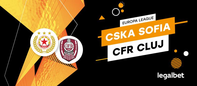 ŢSKA Sofia - CFR Cluj: cote la pariuri şi statistici