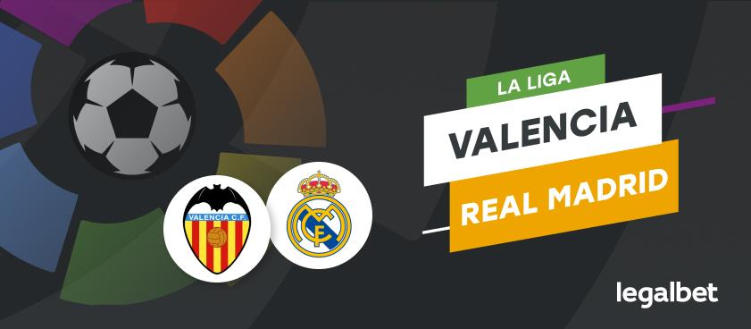 Apuestas y cuotas Valencia - Real Madrid, La Liga 2020/21