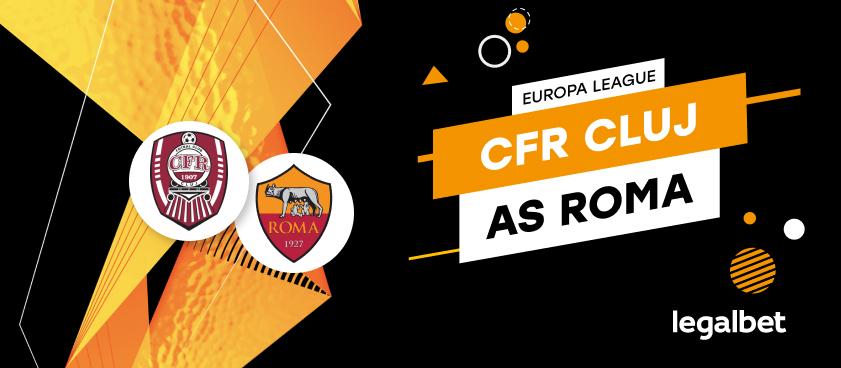 CFR Cluj - AS Roma: cote la pariuri şi statistici