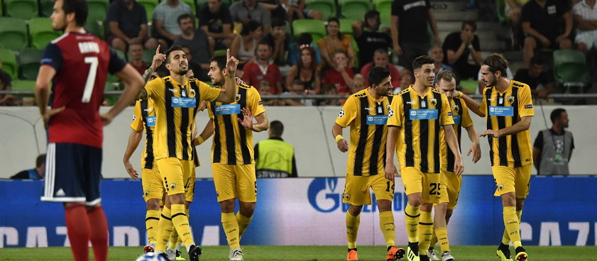 AEK Atena - MOL Vidi FC. Pontul lui Karbacher