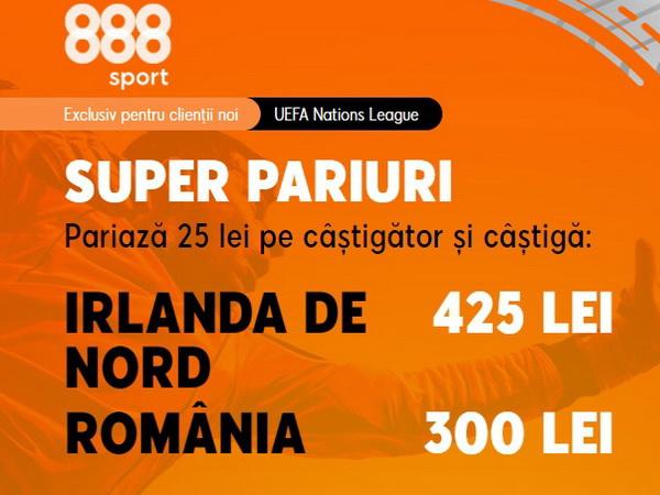 """legalbet.ro: """"Tricolorii"""" au cota 12.00 la 888 Sport pentru o victorie în Irlanda de Nord."""