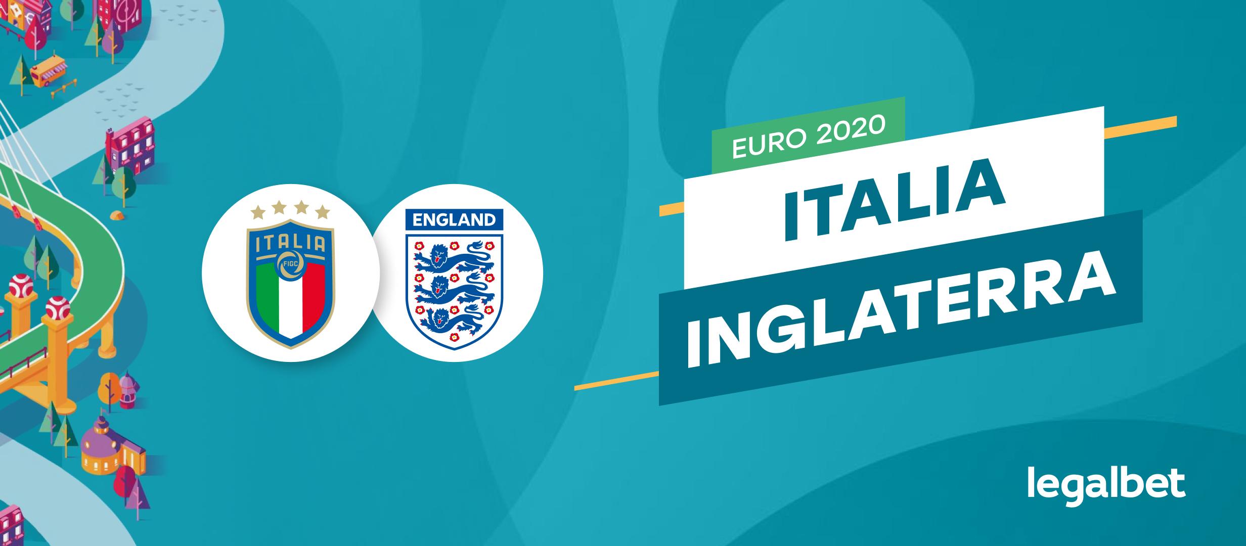 Apuestas y cuotas Italia - Inglaterra, Euro 2020