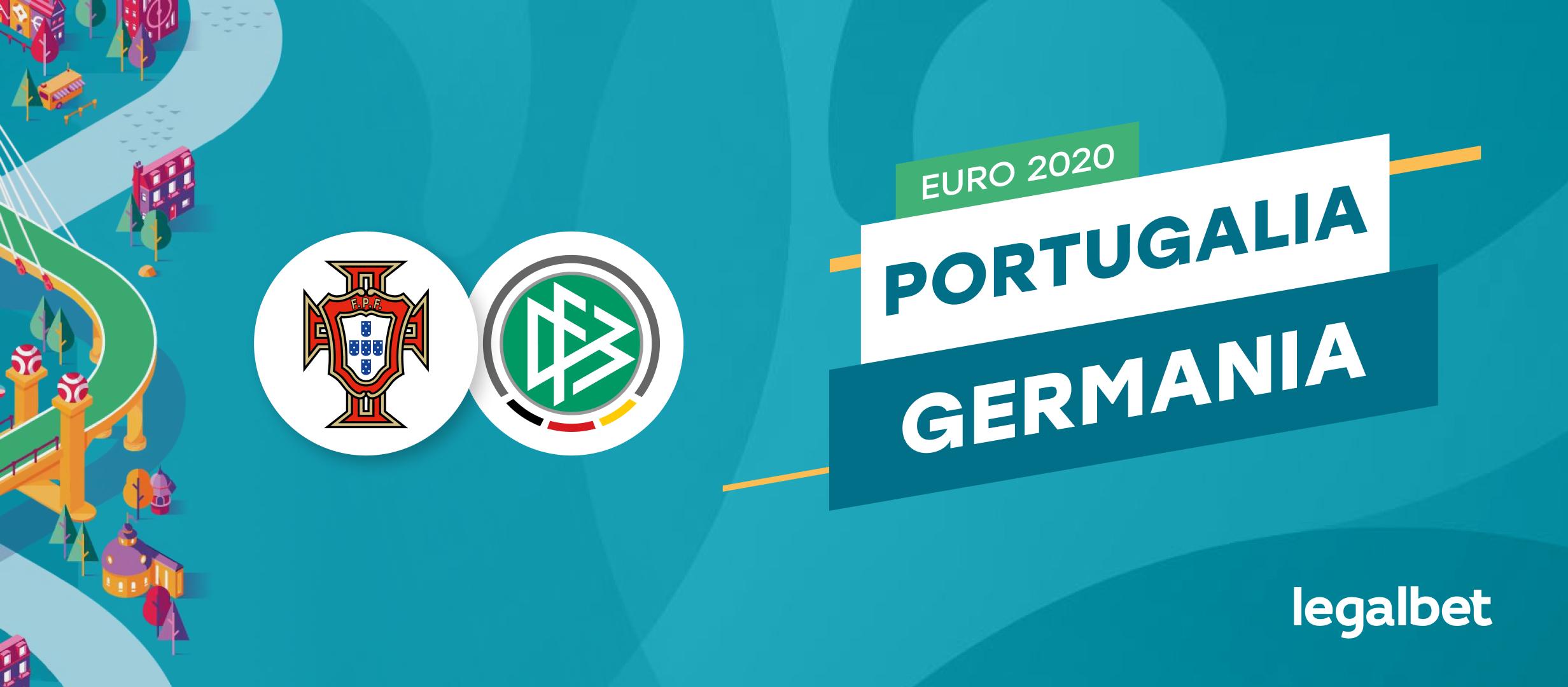 Portugalia - Germania: cote la pariuri si statistici