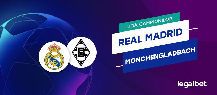 Real Madrid - Borussia Monchengladbach: ponturi Champions League
