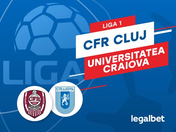 Karbacher: CFR Cluj - Universitatea Craiova: cote la pariuri şi statistici.