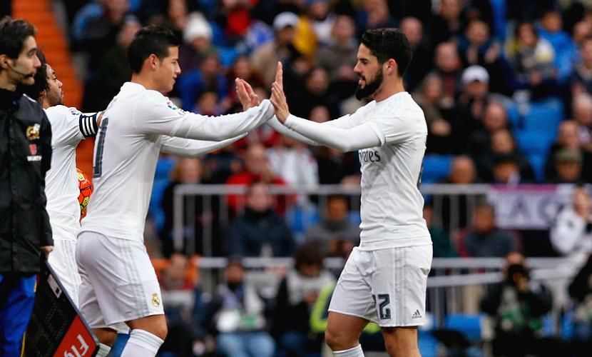Un Madrid sin Isco ni James