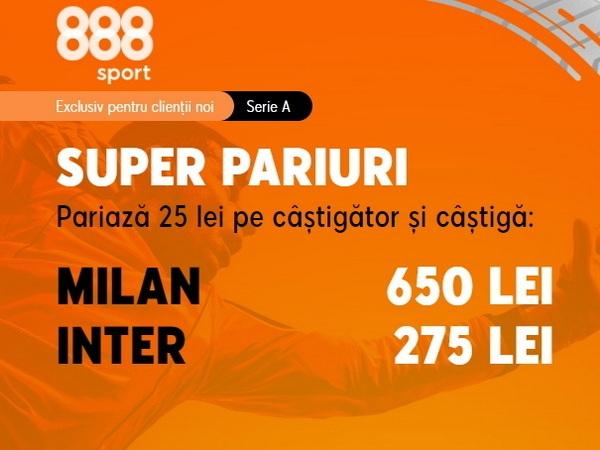 "legalbet.ro: Pe cine pariezi în ""Derby della Madonnina""? Cota 26.00 AC Milan sau cota 11.00 Inter Milano?."