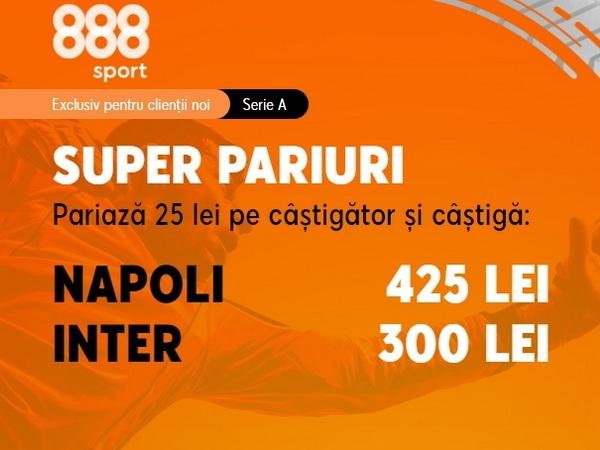 legalbet.ro: Napoli trebuie să o bată pe Inter Milano dacă vrea să revină în Liga Campionilor.