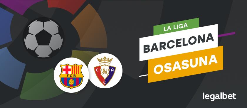 Apuestas y cuotas Barcelona - Osasuna, La Liga 2020/21