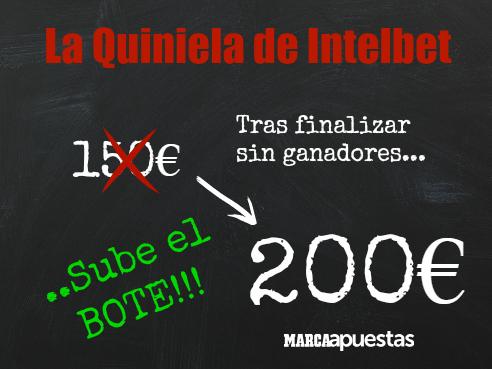 """Sube el bote de """"La Quiniela de Intelbet"""""""