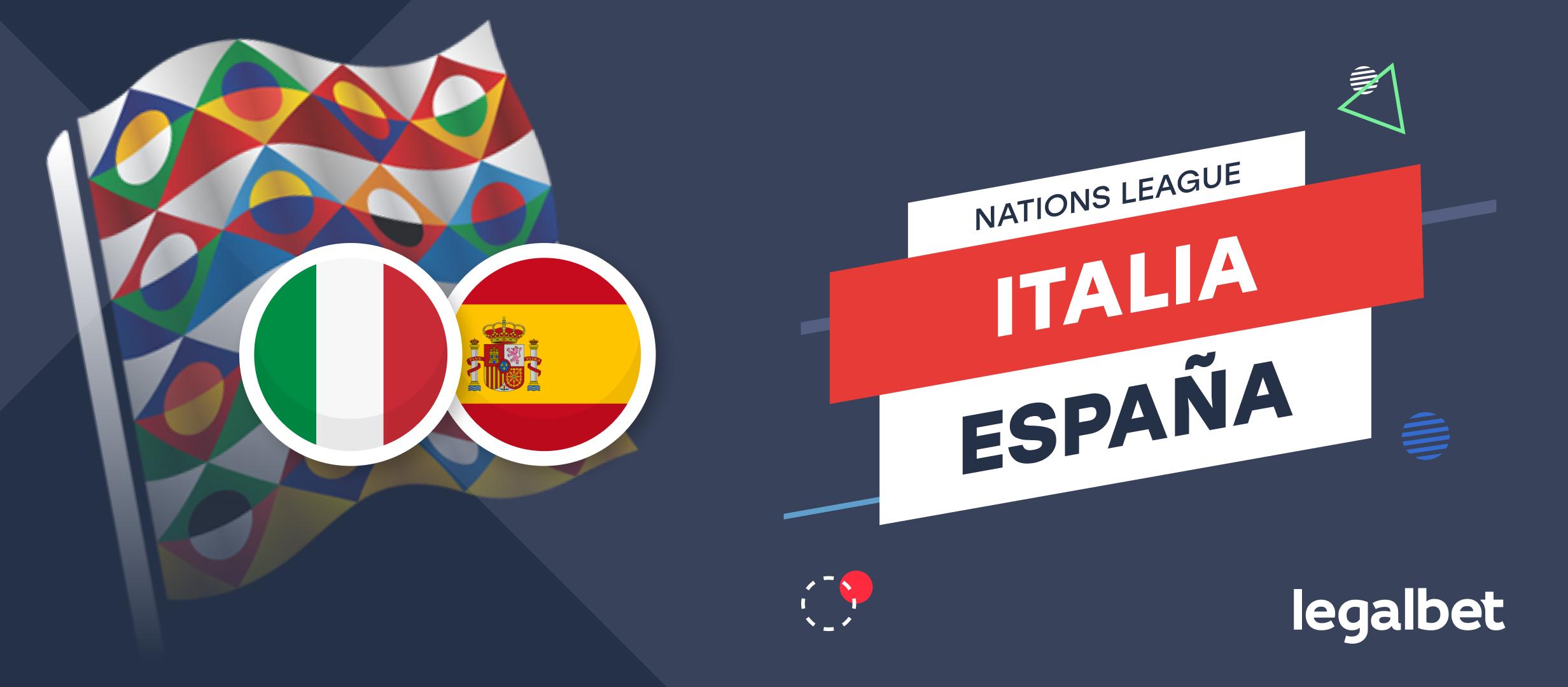 Apuestas y cuotas Italia - España, Nations League 2021/22