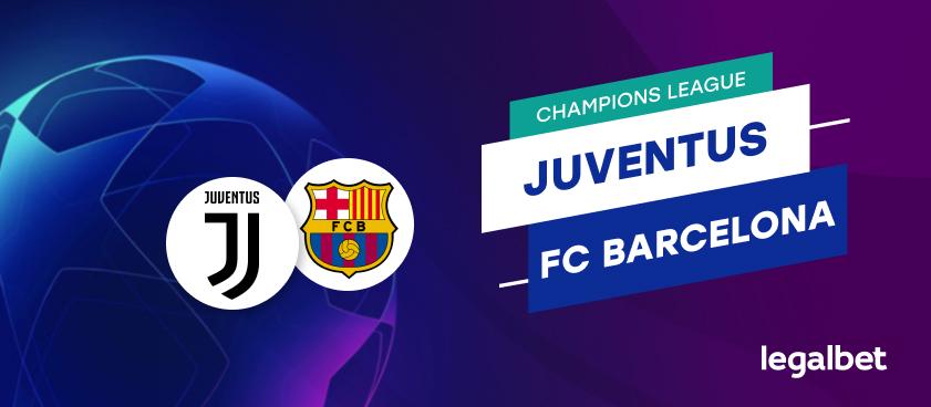 Apuestas y cuotas Juventus - Barcelona, Champions League 2020/21