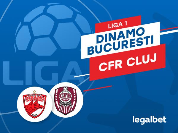 Karbacher: Dinamo Bucureşti - CFR Cluj: cote la pariuri şi statistici.
