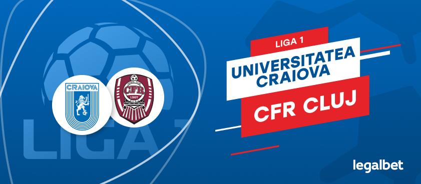 Universitatea Craiova - CFR Cluj: cote la pariuri si statistici
