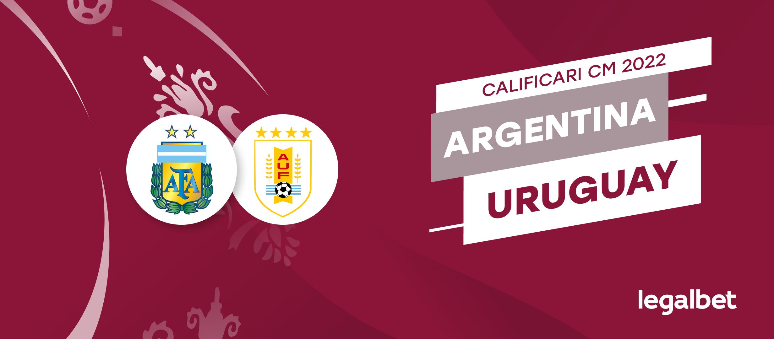 Argentina vs Uruguay – cote la pariuri, ponturi si informatii